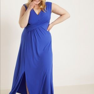 NEW w/Tags Eloquii Blue Maxi Dress -Spring 2020